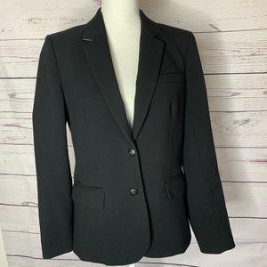 J Crew black classic blazer with stretch size 8